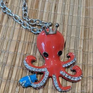 NWT Betsey Johnson Octopus Enamel Necklace